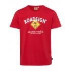 Herren Logo T-Shirt Raute, M, rot