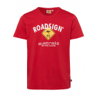 Herren Logo T-Shirt Raute, XL, rot