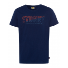 Herren Logo T-Shirt Sydney, 3XL, marine
