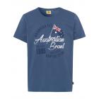 Herren Logo T-Shirt Australian Flag, jeansblau, so