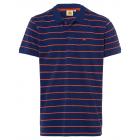 Herren Poloshirt Roadsign Stripes, marine/orange,