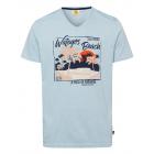 Herren T-Shirt Wategos Beach, hellblau melange, so