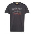 Herren T-Shirt Simpson Desert, anthrazit, sortiert