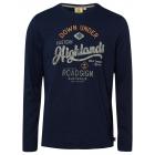 Men's long-sleeved shirt Highlands, navy, asso