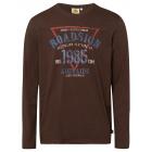 Heren shirt met lange mouwen 1985 Triangle, donker
