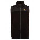 Men's polar fleece vest, black, assorted size