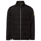 Men's hybrid jacket quilted + knitted fleece,
