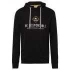 Men's sweatshirt hoodie be responsible, black,