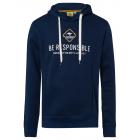 Men's sweatshirt hoodie be responsible, navy,