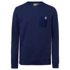 Men's sweat structure with breast pocket, navy
