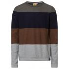 Men's sweater with block stripes, multicolored