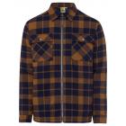 Men's checkered shirt jacket with zipper, brow