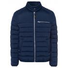 Men's quilted biker jacket, navy, assorted siz