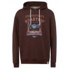 Men's sweatshirt hoodie Roadtrip, brown, assor