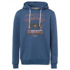 Men's sweatshirt hoodie Roadtrip, denim blue,