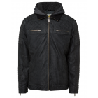 Men's PU jacket with hood Roadsign , gray, sor