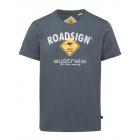 Herren T-Shirt Roadsign, M, anthrazit