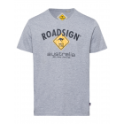 Herren T-Shirt Roadsign, M, grau melange