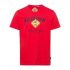 Herren T-Shirt Roadsign, M, rot