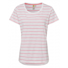 dames T-Shirt été rayé, 2XL, rose corail
