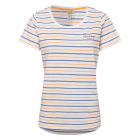 Ladies T-Shirt striped summer, S, blue / apricot