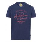 signori T-Shirt Marchio australiano, M, marino