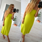 Skirt, dress, maxi, lime
