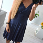 Dress, summer, flared, jeans
