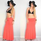 Skirt, dress, maxi, coral