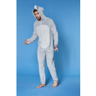 Plain ML jumpsuit, hood with emp (ears and