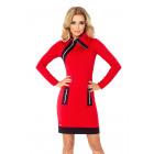 JUSTYNA dress with three locks - red