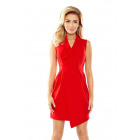 153-2 Wide collar dress - RED