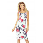 53-30 Fitted Dress - COLOR LARGE FLOWERS