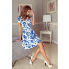MM 003-3 Midi dress with tulle - flowers