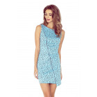 Asymmetrical dress with piping - blue