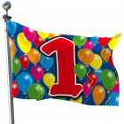 1 Year Flag Balloons 60x90cm