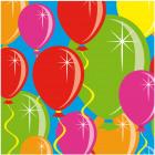 Servilletas globos - 25 x 25 cm - 20 piezas