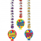 Hangdecoratie Happy Birthday - 3 stuks