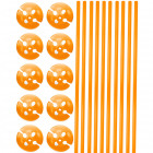 Orange Balloon Boxes with Holders - 10 pieces