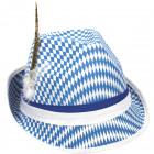 Tiroler Hoed Blauw-Wit Oktoberfest