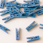 Blue pegs - 24 pieces
