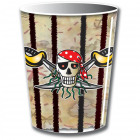 Red Pirate pirate cups - 8 pieces