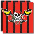 servilletas rojo del pirata pirata - 20 piezas