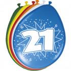 21 años globos - 8 piezas