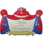 Huldebord 3D Bruidspaar