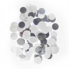 Große Konfetti Runde Silber