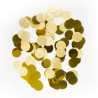 Large Confetti Round Gold