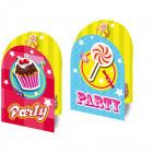 Cake & Candy uitnodigingen - 8 stuks
