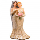 Wedding figurine lesbian couple