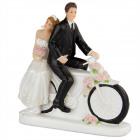 Hochzeit Figur auf dem Fahrrad